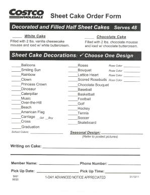 costco sheet cake order form